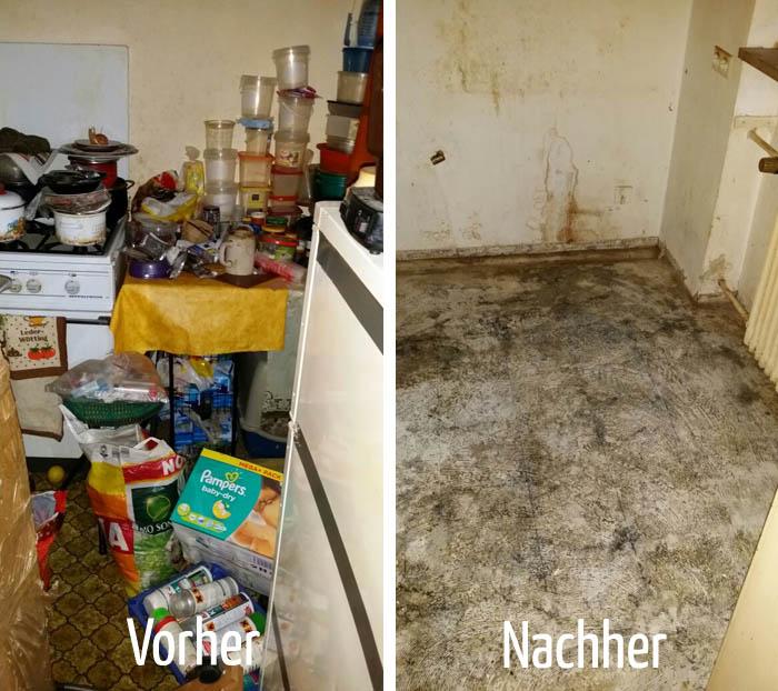Entrümpelung in Nürnberg - vorher und nachher